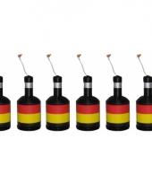 Confetti knallers met belgische vlag 6 stuks