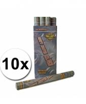 Confetti shooters 60 cm zilver 10x
