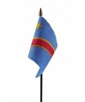 Congo luxe zwaaivlaggetje polyester