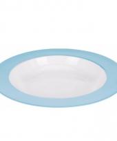 Cornflake bord melamine wit en blauw
