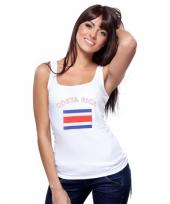 Costa rica vlag tanktop singlet voor dames