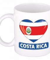 Costa ricaanse vlag hart mok beker 300 ml