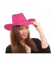 Cowboy hoed in roze kleur