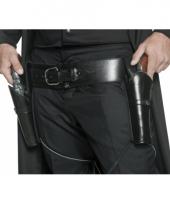 Cowboy holsters zwart aan riem