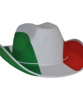 Cowboyhoed italiaanse vlag