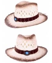 Cowboyhoed met decoratieve band 58 cm