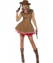 Cowgirl jurk met sjaal voor dames