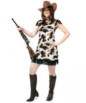 Cowgirl verkleedjurkje met koeprint