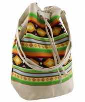 Creme dames tassen ibiza stijl 30 cm