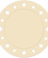 Creme kartonnen placemats 33 cm