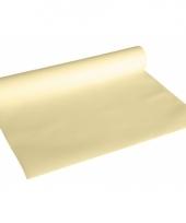 Creme kleur luxe tafelkleed loper