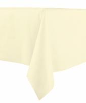 Creme tafelkleden 140 x 240 cm