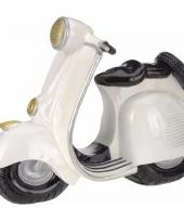 Creme witte scooter spaarpot groot