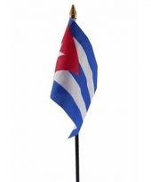 Cuba luxe zwaaivlaggetje polyester