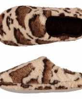 Dames instap sloffen pantoffels girafprint maat 41 42