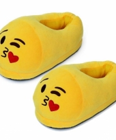 Dames kus smiley pantoffels