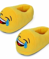 Dames lachende smiley pantoffels