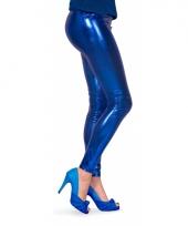 Dames lak legging blauw