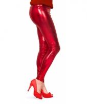 Dames lak legging rood