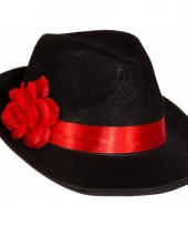 Dames maffia hoed met bloem