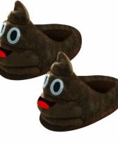 Dames poep smiley pantoffels