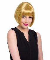 Dames pruik natuurlijk blond