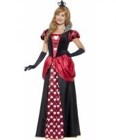Dames rode koningin kostuum