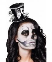 Dames skeletten hoedje op diadeem