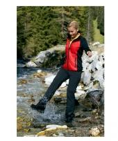 Dames stretch fleece midseason jas rood zwart