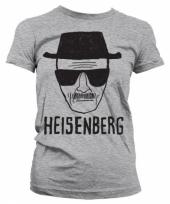 Dames t-shirt heisenberg sketch grijs