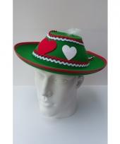 Dames tiroler hoedjes groen