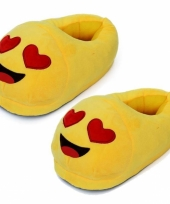 Dames verliefde smiley pantoffels