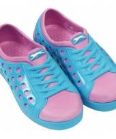 Dames waterschoen van het merk slazenger in blauw roze