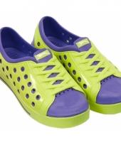 Dames waterschoen van het merk slazenger in lime paars
