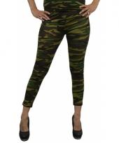 Dameslegging camouflage print