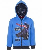 Darth vader sweatshirt voor jongens blauw
