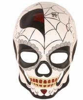 Day of the dead masker man van kunststof