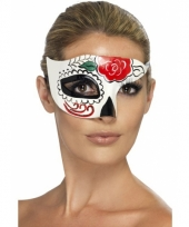 Day of the dead masker van plastic 10058312