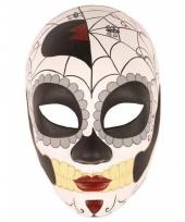 Day of the dead masker vrouw van kunststof