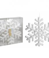 Deco sneeuwvlokken met glitters 3 stuks