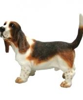 Decoratie beeld basset hond 11 cm