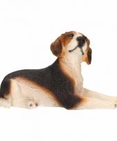 Decoratie beeld beagle hond 13 cm