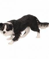 Decoratie beeld border collie hond 17 cm