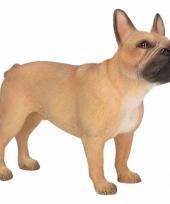 Decoratie beeld bruine franse bulldog hond 11 cm