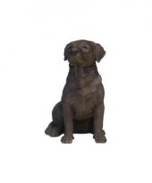 Decoratie beeld bruine labrador hondje 21 cm