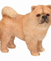 Decoratie beeld chow chow hond 12 cm
