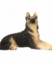 Decoratie beeld duitse herdershond 14 cm