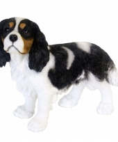 Decoratie beeld king charles hond 31 cm