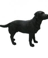 Decoratie beeld labrador zwart 14 cm