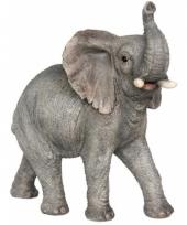Decoratie beeld olifant dier 29 cm